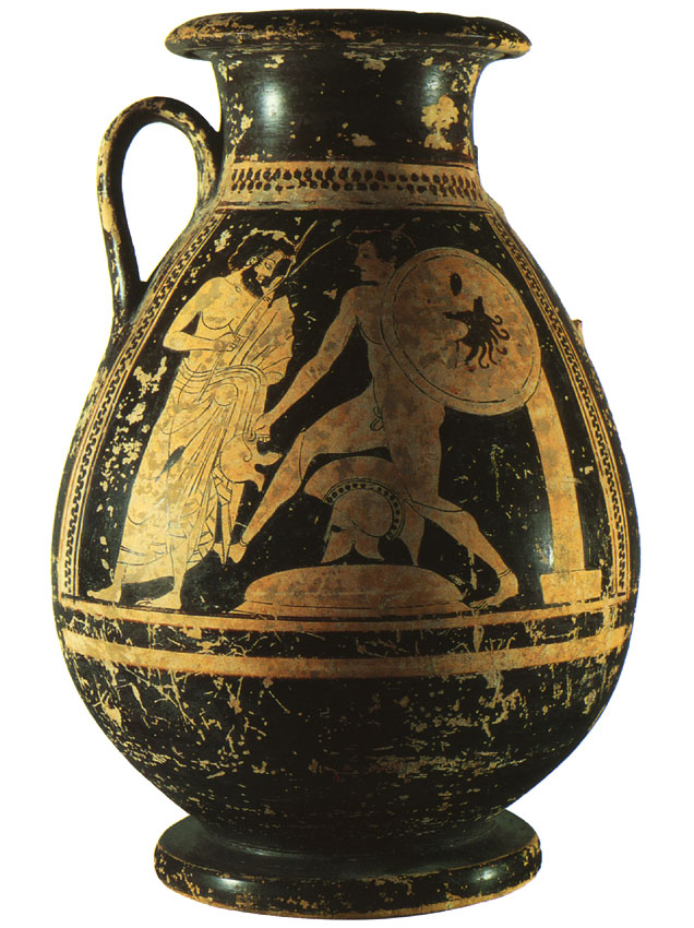 Hoplitodromos. Red-figure pelike. Attic. Clay. Ca. 500 BCE.  Inv. No. IV 1627. Vienna, Museum of Art History, Collection of Classical Antiquities