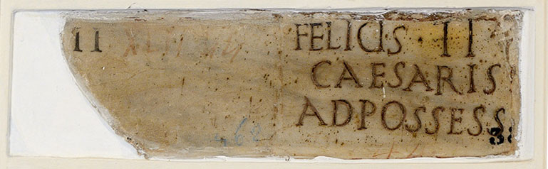 Funerary inscription of Felix. Ca. 4—14 CE. CIL VI 4014. Inv. No. 4747. Rome, Capitoline Museums, Palazzo Nuovo, Gallery