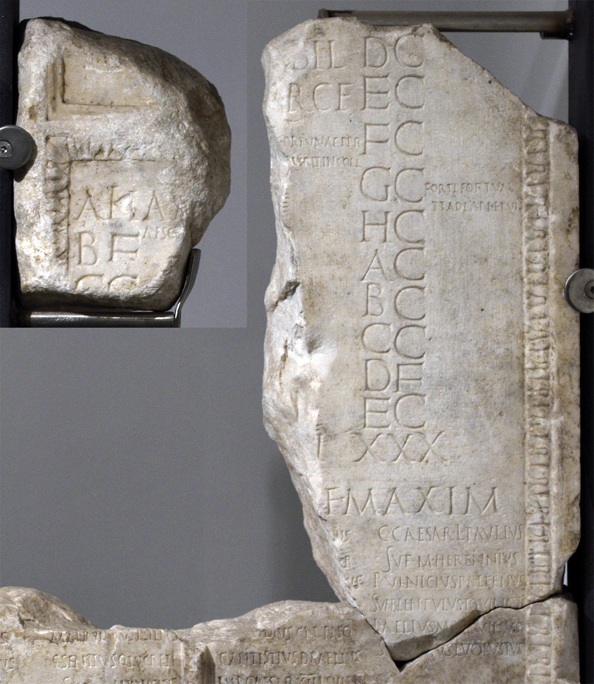Fasti of vicomagistri. Calendar. CIL. VI. 10286; 10287 = InscrIt. XIII. 1. 20; XIII. 2. 12. Marble. 3 CE. Hall 5, Inv. No. 121558. Rome, Roman National Museum, Baths of Diocletian