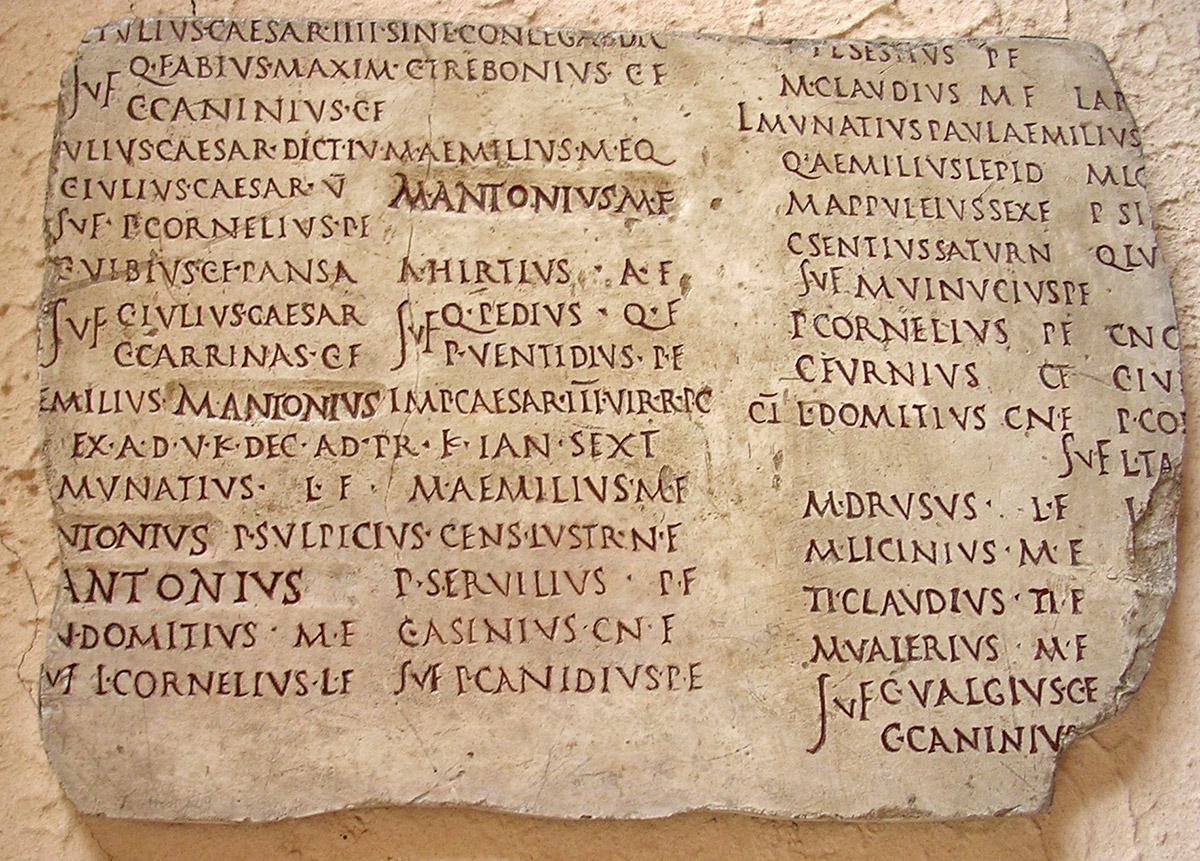 list of the roman consuls known as the fasti colotiani