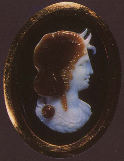 Queen of the Ptolemies — protectress of Alexandria. Sardonyx. 3rd—2nd centuries BCE.  Inv. No Ж 155. Saint Petersburg, The State Hermitage Museum
