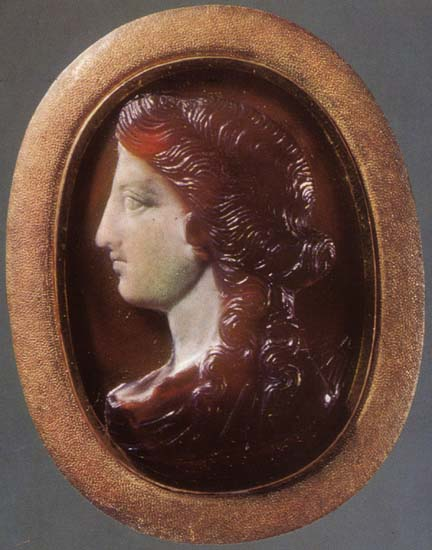 Artemis. Sardonyx. 1st century. 2.6 × 1.9 cm. Inv. No Ж 322. Saint Petersburg, The State Hermitage Museum