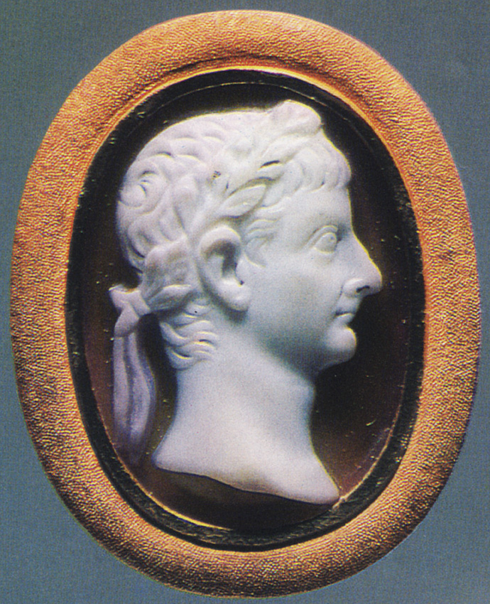 Germanicus. Sardonyx. Early 1st century. 2.4 × 1.7 cm. Inv. No Ж 265. Saint Petersburg, The State Hermitage Museum