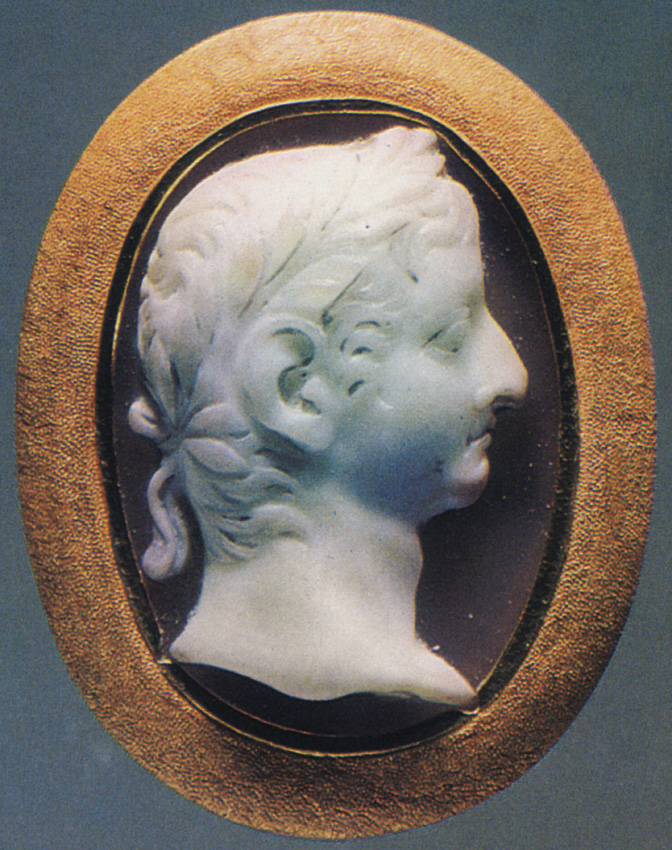 Nero Caesar, the son of Germanicus. Onyx. Twenties of the 1st century. 2.5 × 1.7 cm. Inv. No Ж 260. Saint Petersburg, The State Hermitage Museum