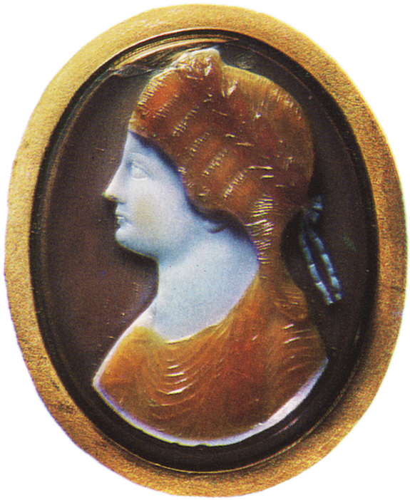 Agrippina the Elder, the wife of Germanicus. Sardonyx. Early 1st century. 5.9 × 4.7 cm. Inv. No Ж 343. Saint Petersburg, The State Hermitage Museum