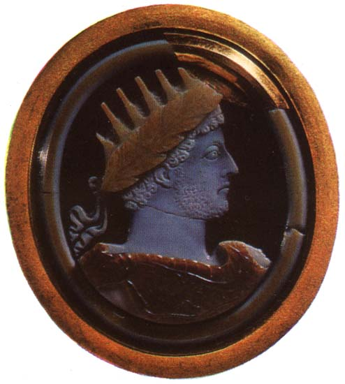 Commodus. Sardonyx. Late 2nd century. 5.3 × 6.1 cm. Inv. No Ж 340. Saint Petersburg, The State Hermitage Museum