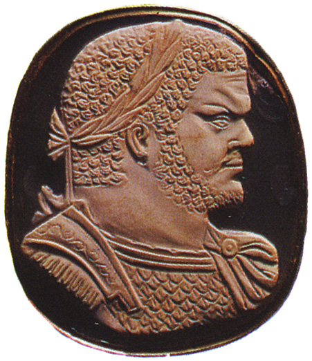 Caracalla. Sardonyx. Early 3rd century. 4.3 × 3.7 cm. Inv. No. Ж 345. Saint Petersburg, The State Hermitage Museum