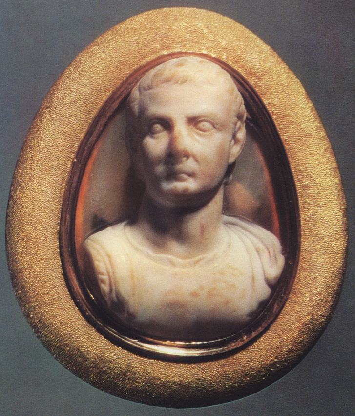 Tiberius. Onyx. Early 1st century. 2.7 × 2.1 cm. Reworked in the sixteenth century. Inv. No Ж 276. Saint Petersburg, The State Hermitage Museum
