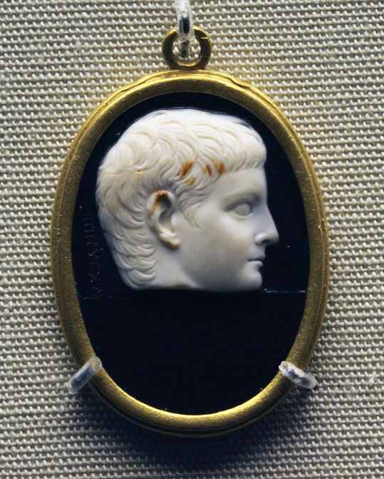 Portrait of a young man from the Julio-Claudian dynasty (Gaius Caesar? Lucius Caesar? Germanicus?). Ca. 2 BCE — ca. 4 CE.  Inv. No. GR 1867.5-7.496; Gem. 3592. London, The British Museum