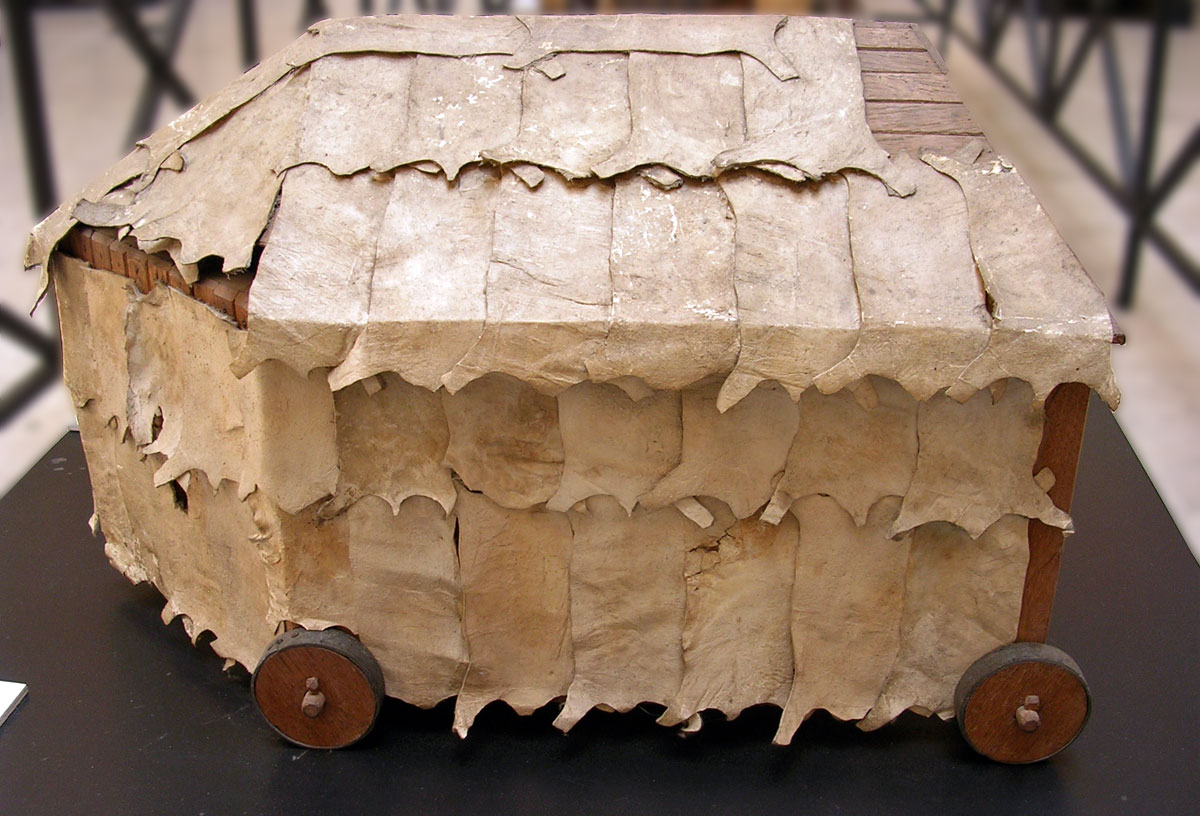Scale model (1:10) of a tortoise (testudo), a military engine used to protect troops approaching the walls of an enemy city. Inv. No. MCR 891. Rome, Museum of Roman Civilization