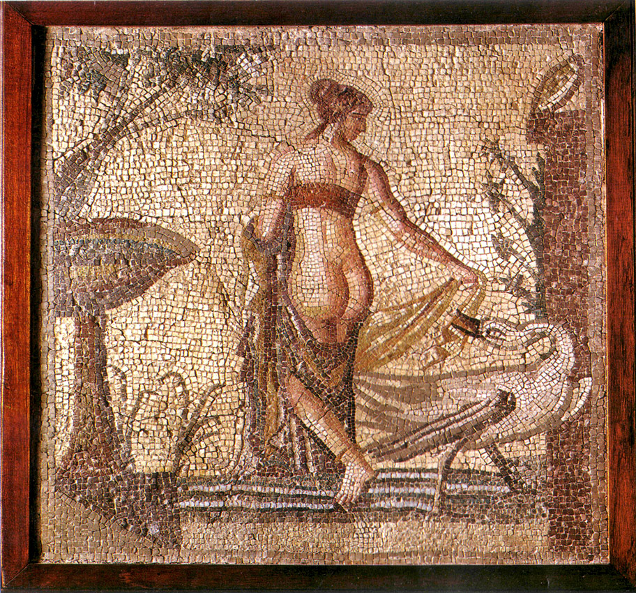 Leda and the Swan. Late 2nd century CE. Kouklia, Museum
