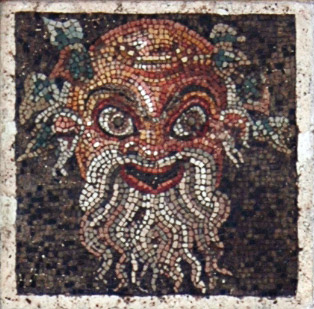 Theatrical mask. Inv. No. 109687. Naples, National Archaeological Museum