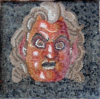 Theatrical mask. Inv. No. 109679. Naples, National Archaeological Museum