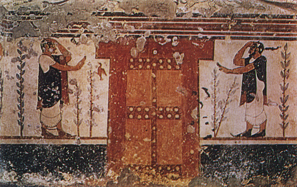 Mourners. 6th century BCE. Tarquinia, Tomb of the Augurs