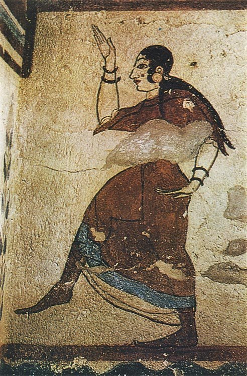 Female dancer. 6th century BCE. Tarquinia, Tomb of the Jugglers