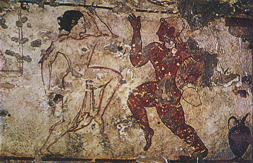 Dancers. 6th century BCE. Tarquinia, Tomb of the Lionesses
