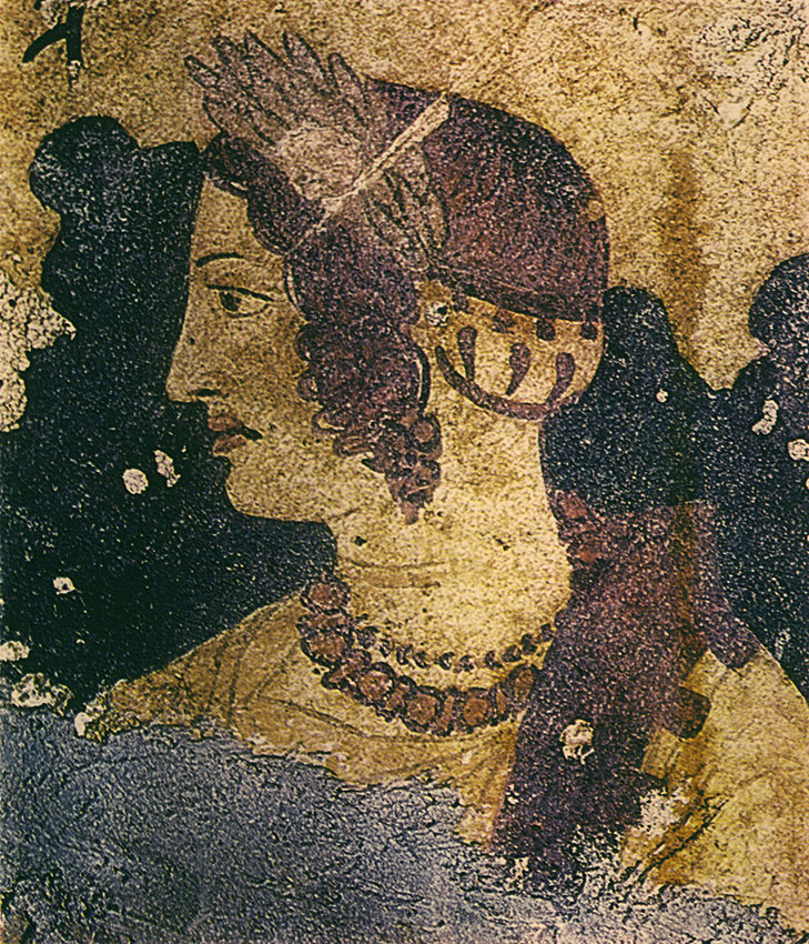 Female face. 4th century BCE. Tarquinia, Tomb of the Orcus, first cell