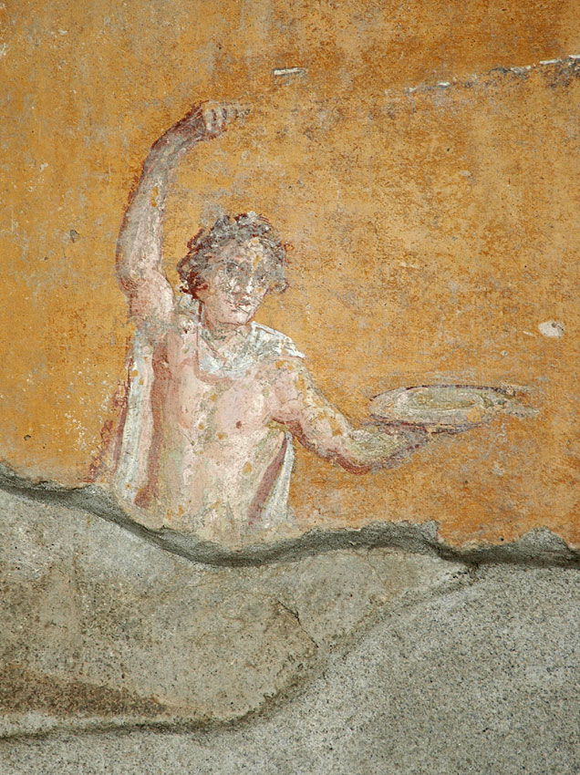 Fresco from the House of the Trojan Sacellum. Second style. Ca. 80—20 BCE. Pompeii, The House of the Trojan Sacellum, I, 6, 4