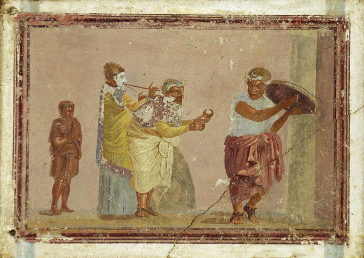 Street Musicians. Fresco from Stabiae. Inv. No. 9034. Naples, National Archaeological Museum
