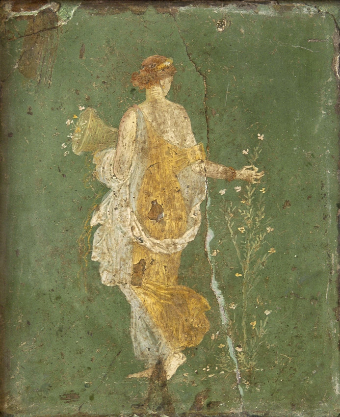 Flora (Proserpine). Fresco from Stabiae (cubiculum w26 of the Villa of Ariadne). Inv. No. 8834. Naples, National Archaeological Museum