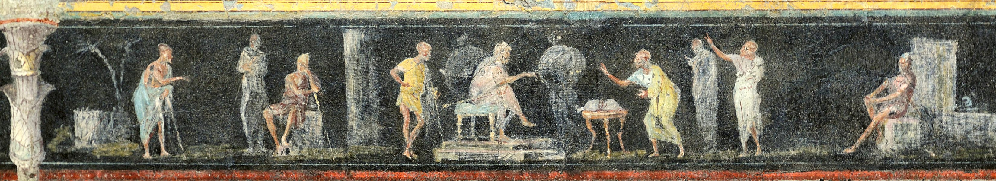 Frieze of triclinium. Villa Farnesina. Part 2. Frieze of triclinium. Villa Farnesina. Part 2. Rome, Roman National Museum, Palazzo Massimo alle Terme