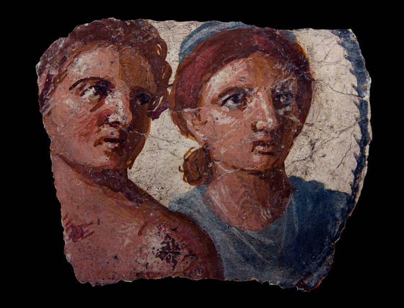 Pompeian portrait of a man and woman. Ca. 20 BCE — ca. 20 CE. Inv. No. GR 1856.12-26.1621 London, The British Museum