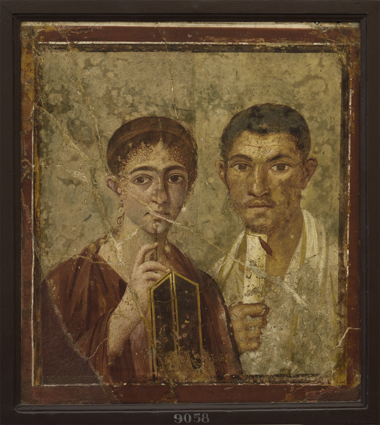 Portrait of the baker Terentius Neo and his wife. Fresco from Pompeii (House of Terentius Neo, VII, 2, 6). Inv. No. 9058. Naples, National Archaeological Museum