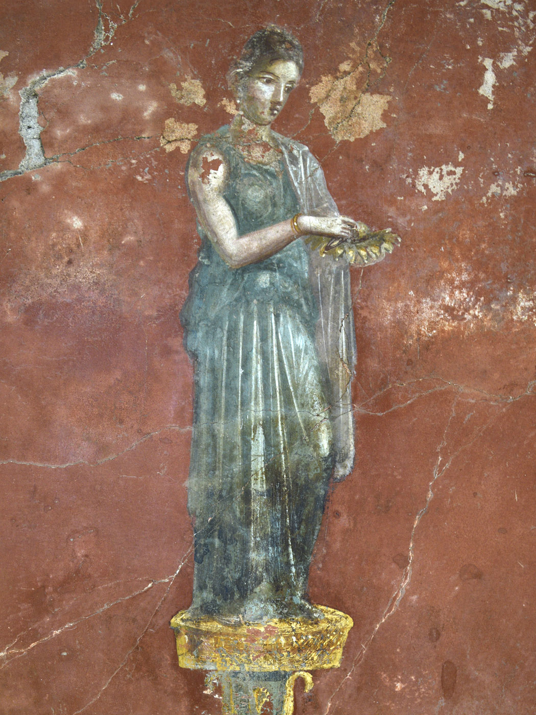 A personage of a comedy. Neronian age. Pompeii, Great Gymnasium