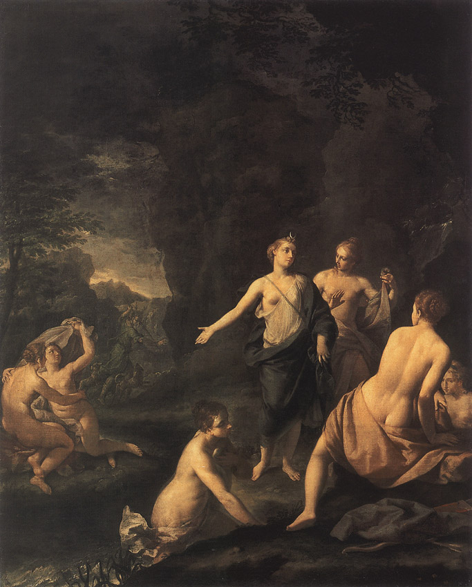Diana and Actaeon. Ercole Graziani (1688—1765).  Inv. No. ГЭ 2693. Saint Petersburg, The State Hermitage Museum