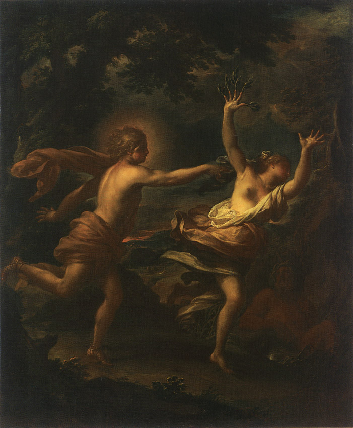 Apollo and Daphne. Francesco Trevisani (1656—1746). Oil on canvas. 1708—1717.  Inv. No. ГЭ 238. Saint Petersburg, The State Hermitage Museum
