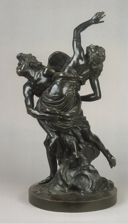 Boreas is abducting Orithyia. Simon Louis Boizot (1743—1809). Bronze. After 1773. Height 56 cm. Inv. No. Н.ск. 2183. Saint Petersburg, The State Hermitage Museum