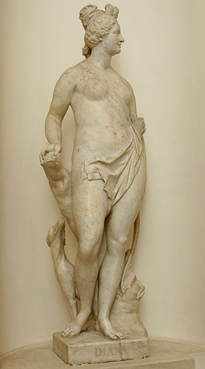 Diana. Giuseppe Groppelli (1675—1735), Paolo Groppelli (1677—1751). Marble. 1719—1720. Saint Petersburg, The State Hermitage Museum