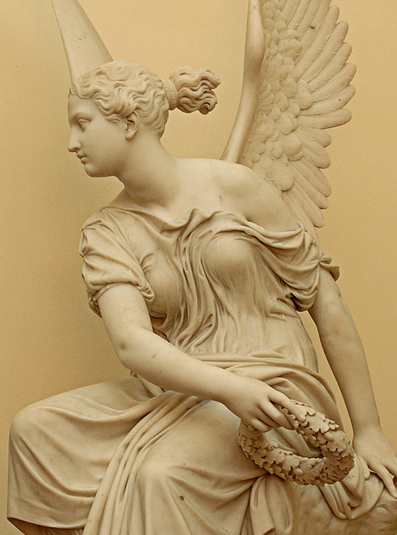 Victoria. Detail. Christian Rauch (1777—1857). Marble. Saint Petersburg, The State Hermitage Museum