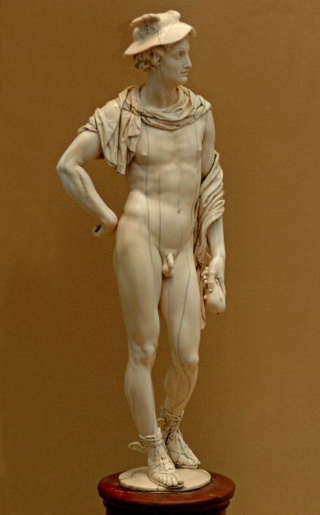 Figure of Mercury. Flanders, the workshop of P. P. Rubens, about 1639. Ivory, porphyry. Saint Petersburg, The State Hermitage Museum