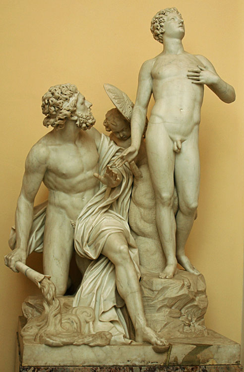 Prometheus and the First Man. Pietro Stagi (active ca. 1783—1793) after a model by Simon Louis Boiseau. Marble. Saint Petersburg, The State Hermitage Museum