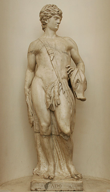 Adonis. Guiseppe Torretto (1664—1743). Marble. 1716—1717. Saint Petersburg, The State Hermitage Museum
