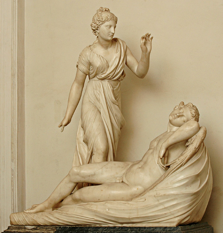 Eros and Psyche. Paolo Andrea Triscornia (1757—1833). Marble. 1797—1798.  Inv. No. Н.ск. 773. Saint Petersburg, The State Hermitage Museum