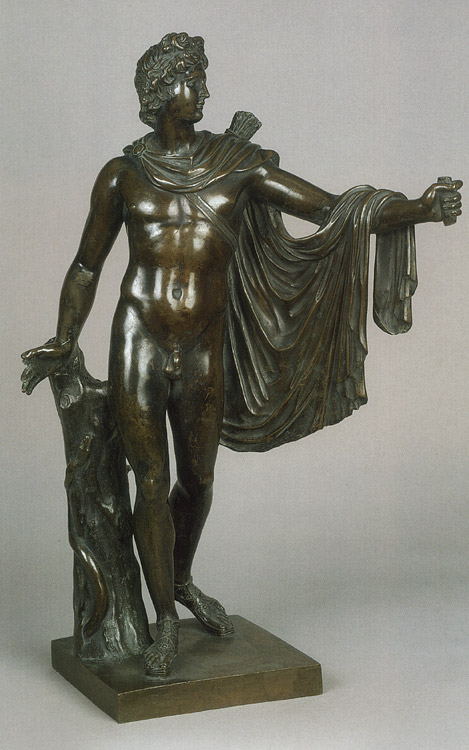 Apollo Belvedere (after the ancient original). Unknown French master of the 18th century. Bronze. Height 56 cm. Inv. No. Н.ск. 1279. Saint Petersburg, The State Hermitage Museum
