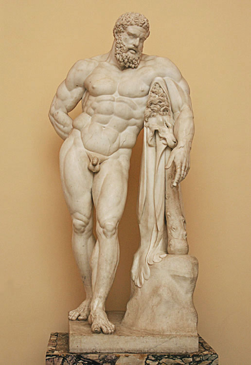 Hercules Farnese (after the Antique). Italian sculptor of the 18th century. Marble. Saint Petersburg, The State Hermitage Museum