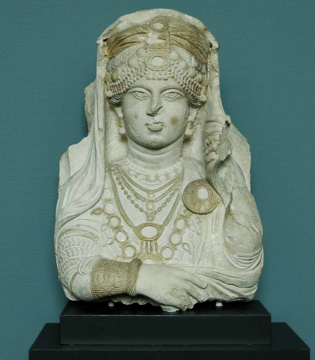 """The Beauty of Palmyra."" Limestone. Ca. 190—210 CE. Inv. No. 2795. Copenhagen, New Carlsberg Glyptotek"