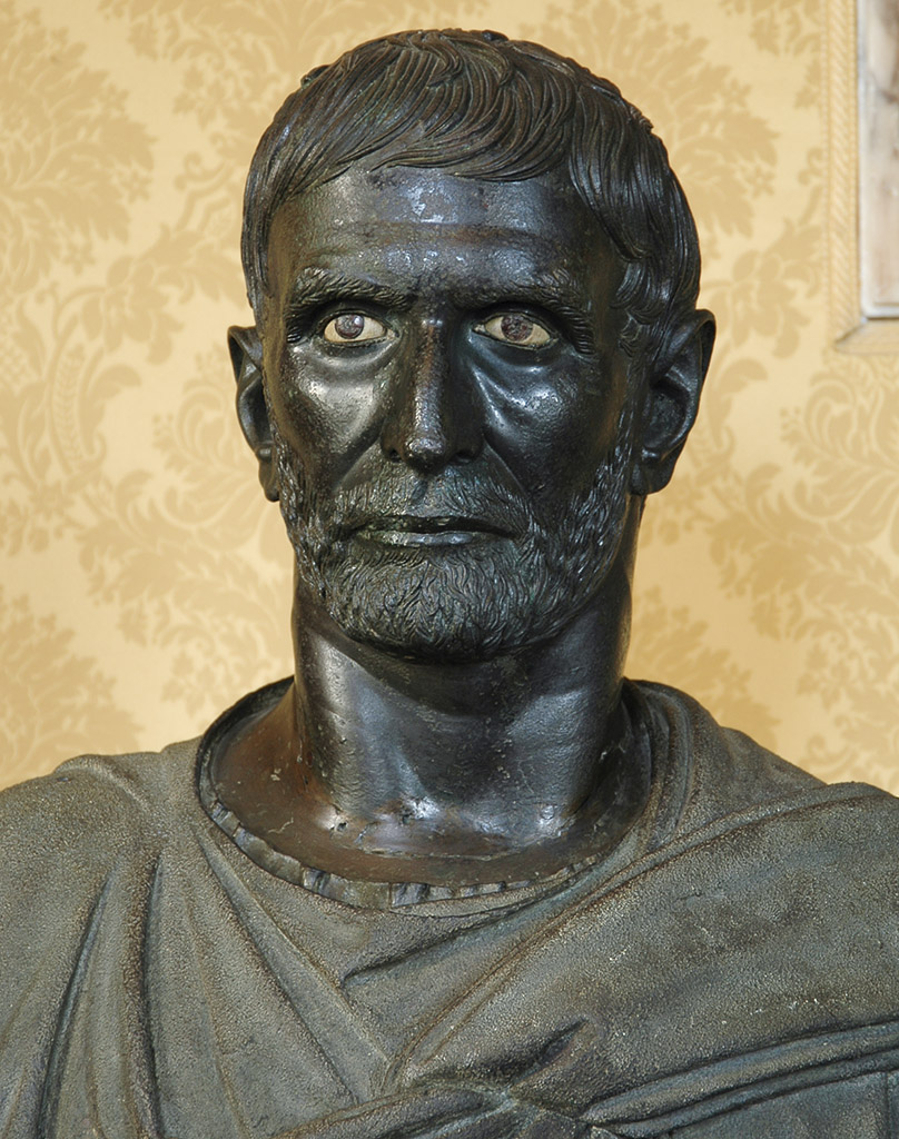 """Brutus Capitolinus."" Detail. Bronze. 4th—3rd centuries BCE. Inv. No. MC1183. Rome, Capitoline Museums, Palazzo dei Conservatori, Hall of the Triumphs"