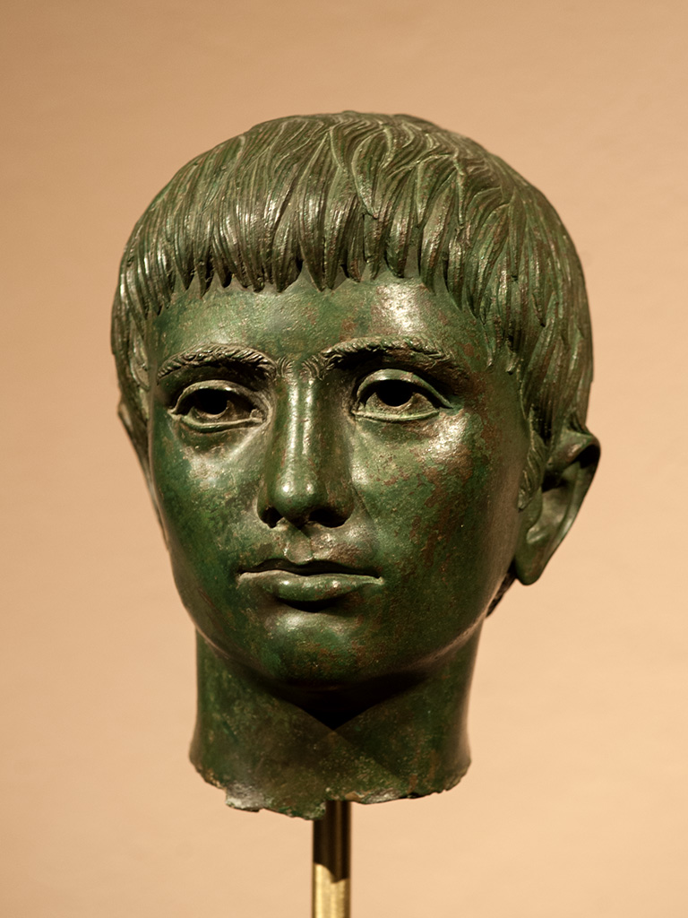 Bronze head of a youth from Fiesole. Bronze. Late 4th century BCE. Inv. No. 548. Florence, National Archaeological Museum