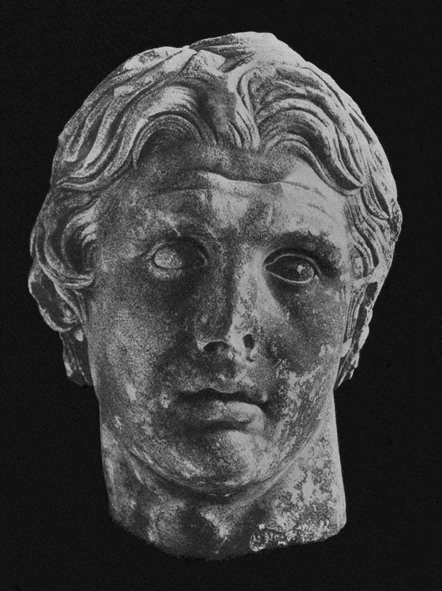 Head of Alexander the Great. Marble. Istanbul, Archaeological Museum