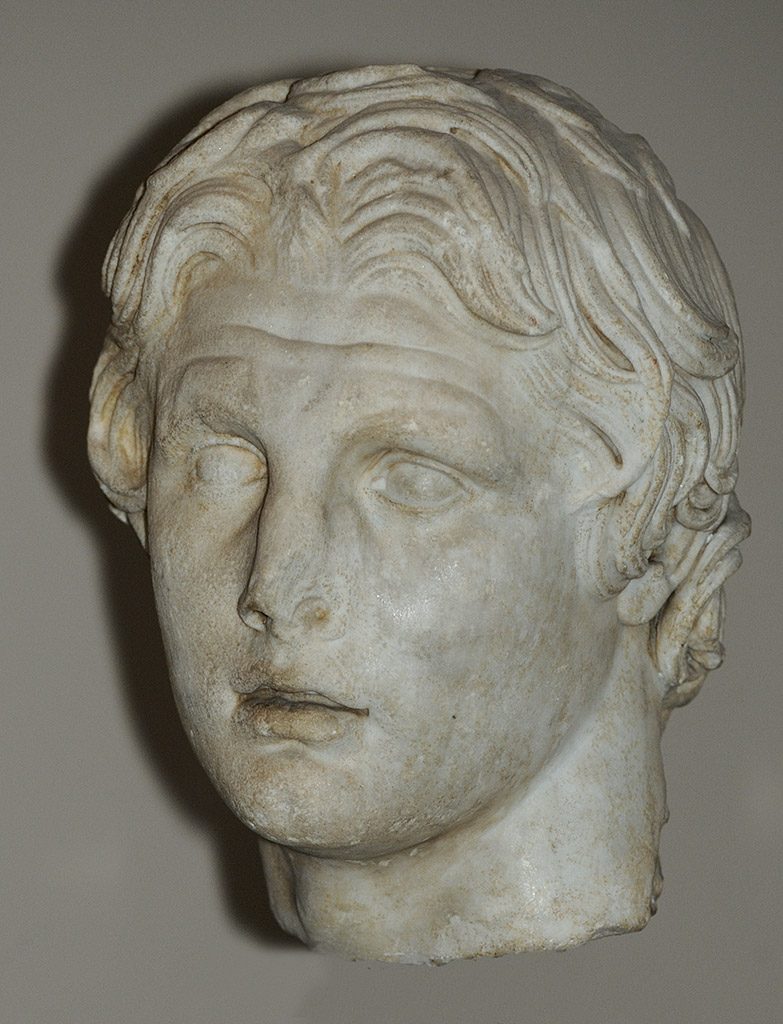 Head of Alexander the Great. Marble. First half of the 2nd cent. BCE. Inv. No. 1138 T (Cat. Mendel 538). Istanbul, Archaeological Museum