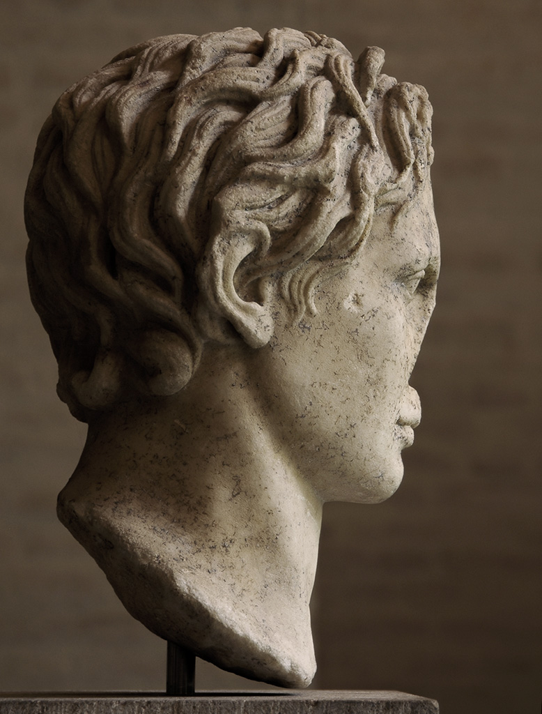 Alexander the Great. Marble. Copy of the first half of the 2nd century CE after a statue by Lysippos ca. 330 BCE. Munich, Glyptotek