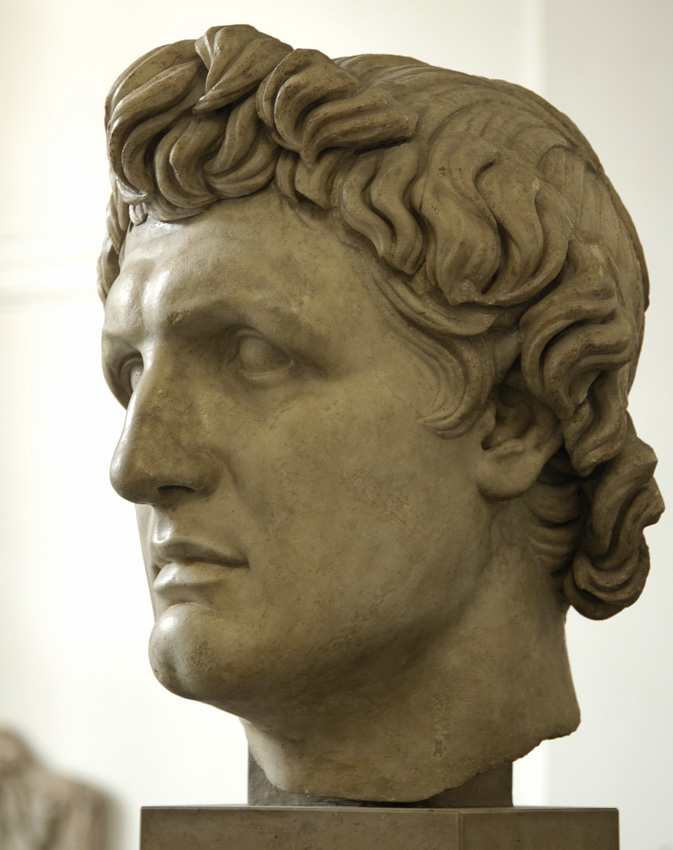 Portrait of Hellenistic ruler (Attalus I [241—197 BCE]?). Marble. Early 2nd century BCE.  Inv. No. P 130. Berlin, State Museums, Pergamon Museum