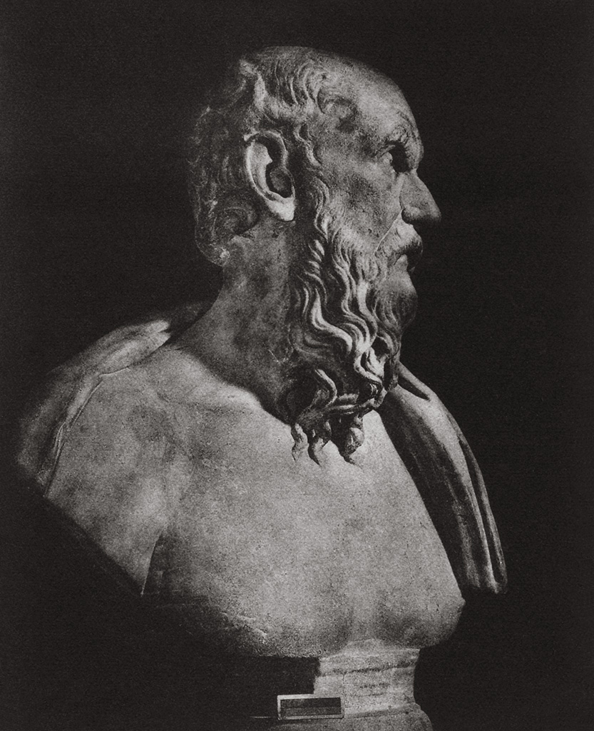 Bust of Diogenes (?). Marble. Rome, Capitoline Museums, Palazzo Nuovo, Hall of the Philosophers