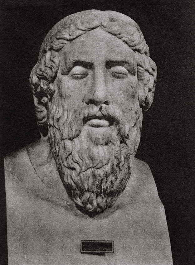 Herm of Epimenides. Marble. Rome, Vatican Museums, Pius-Clementine Museum, Room of the Muses, 21