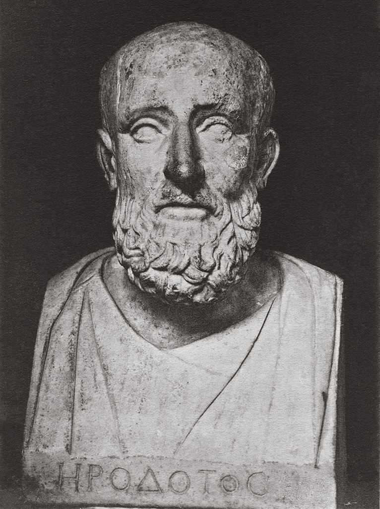 So-called Herodotus. Marble. Roman copy of the 1st century CE after a Greek original of the 5th century BCE. Height 52 cm. Saint Petersburg, The State Hermitage Museum