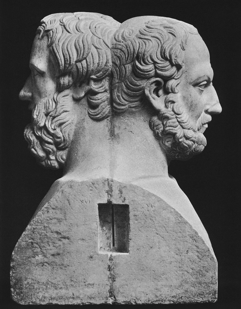 Double term of Herodotos and Thukydides. Marble. Inv. No. 6239. Naples, National Archaeological Museum